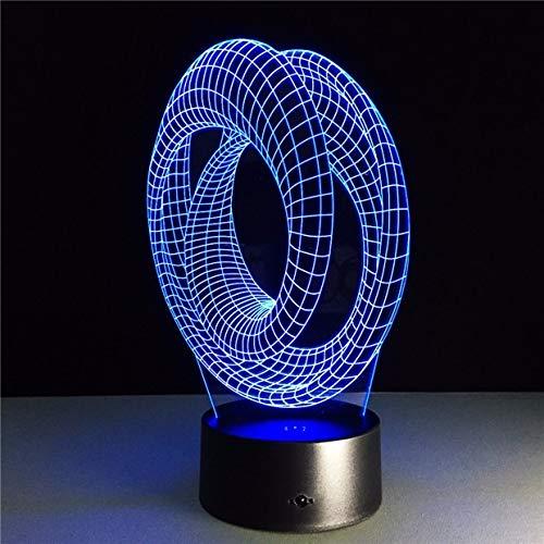 Magische Stimmung Spiralbirne Luminaria Kunst Abstrakte Nachtlicht 3D LED Tischlampe Kinder Geburtstagsgeschenk Nachtzimmer Dekoration