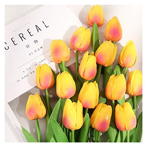 Trockenblumen Neue 2021 Home Garten 5/10PCS Tulpe Künstliche Blume Bunte Bouquet Gefälschte Blume Hochzeit Party Dekorationen Exquisite Tulpen Künstliche Blumen ( Farbe : Champagne , Größe : 10PCS )
