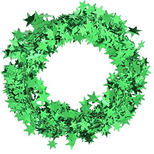 BHDD Guirnalda de Alambre Atractiva, decoración de Estrella Interesante, para la Guirnalda de la Boda de la Fiesta de cumpleaños de Navidad(Green)