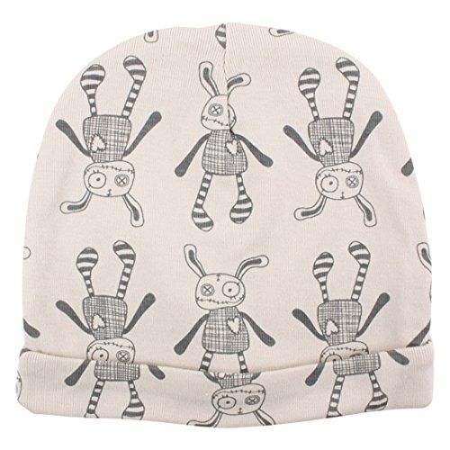FIXONI Small Rags Bonnet Imprimé 100% Coton - 60375 01-75 - Bébé Mixte - 2 Ans Gris