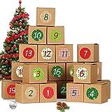 Bluelves Calendario de Adviento, Advent Calendar 2020, Calendario Adviento DIY, Calendario Adviento Navidad, Calendarios de Adviento con 24 Adhesivos Digitales de Adviento
