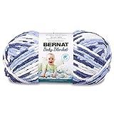 Bernat Baby Blanket Yarn, 10.5oz, Gauge 6 Super Bulky - Blue Dreams - Single Ball Machine Wash & Dry (16110404134), Big Ball