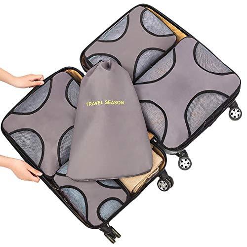 Wxianmy Juego de 5 bolsas de almacenamiento multifunción de viaje, bolsa organizadora portátil con cordón para hombres y mujeres, regalo de viaje a casa