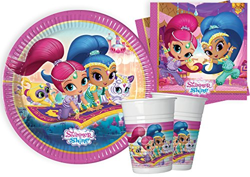 Ciao–Shimmer and Shine Kit Party Tabla, multicolor, S (8personas), y4614