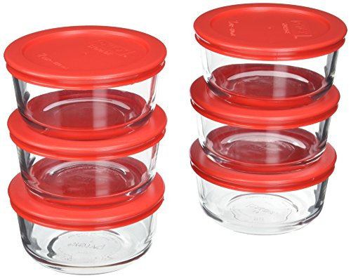 Pyrex 6-Piece Glass Food Storage Set with Lids (Glass, 12-Piece)