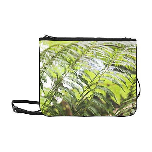 N\A Umhängetasche Clutch Schwert Farn Farn Blätter Pflanze Natürliche botanische verstellbare Schultergurt Umhängetasche Designer für Frauen Mädchen Damen Clutch Bag Einfache Umhängetasche