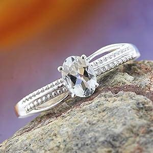 Brazilian Goshenite Sterling Silver Ring (Size 7.0) KS-213