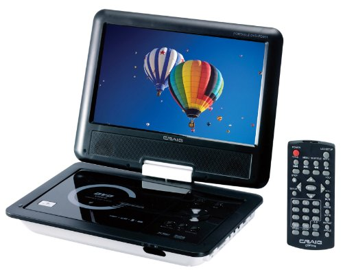 Best Deals! Craig 9-Inch TFT Swivel Portable DVD/CD Player with Remote, Black (CTFT712)