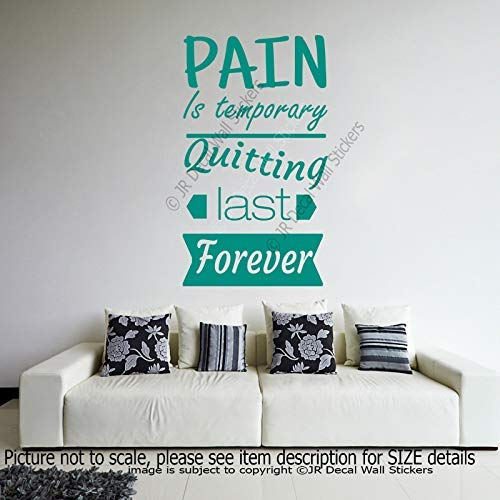 """Pain is temporary - Quitting last forever"