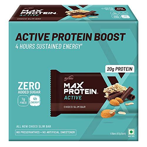 RiteBite Max protein Bar 67g – (ChocoSlim, Pack of 6)