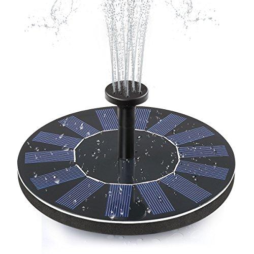 ADDTOP Solar Bird Bath Fountain Pump 1.4W Free Standing Solar Panel Kit Water Pump for Garden, Pond, Pool