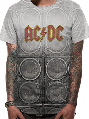 T-Shirt (Unisex-S) Amp Stack (White) [Import anglais]
