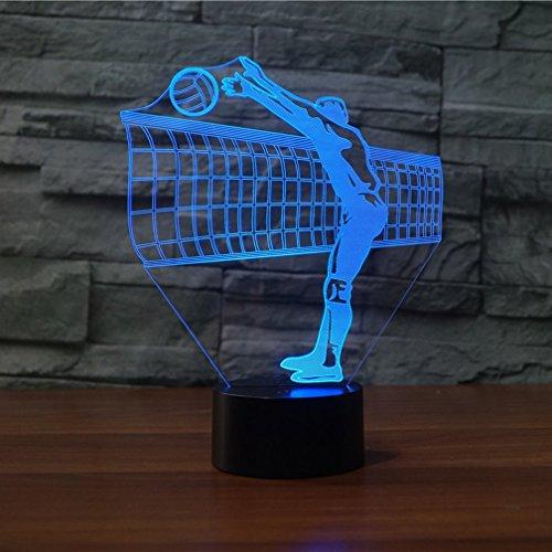Preisvergleich Produktbild KINGCOO 3d-effekt illusion lampe 7 farb-touch-schalter led-nachtlicht-modell dekoratives licht geschenk home office dekorationen volleyball sport-1