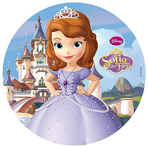 Disque azyme Princesse Sofia pour décoration de gâteau