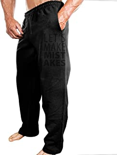 Mens Sports Pants Lets Make Mistakes Sweatpants With Fashion Protruding-body Design For Shopping Four-Seasons Casual Pants