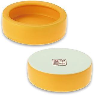 爬虫類 水入れ 爬虫類 えさ皿 2個セット 「 亀 ヤモリ レオパ の エサやり皿 としてお使い頂けます」爬虫類 餌入れ 【THALASSA】 (黄色)