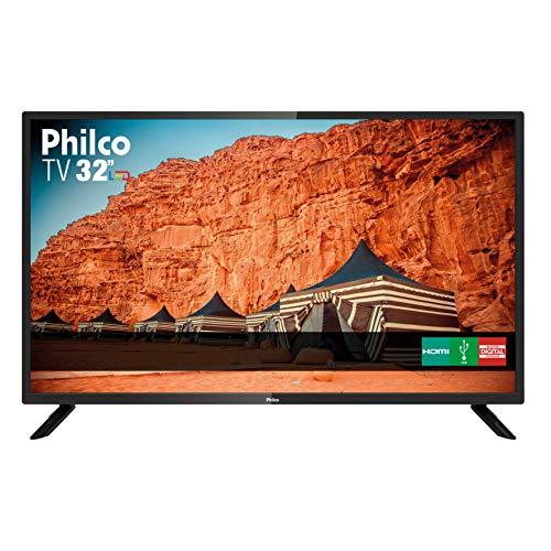 TV 32' HD Backlight D-LED Philco PTV32F10D, Receptor Digital Integrado - Bivolt