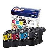 ブラザー インクジェットカートリッジ LC117/115-4PK 4色パック( ) 1パック(4色)
