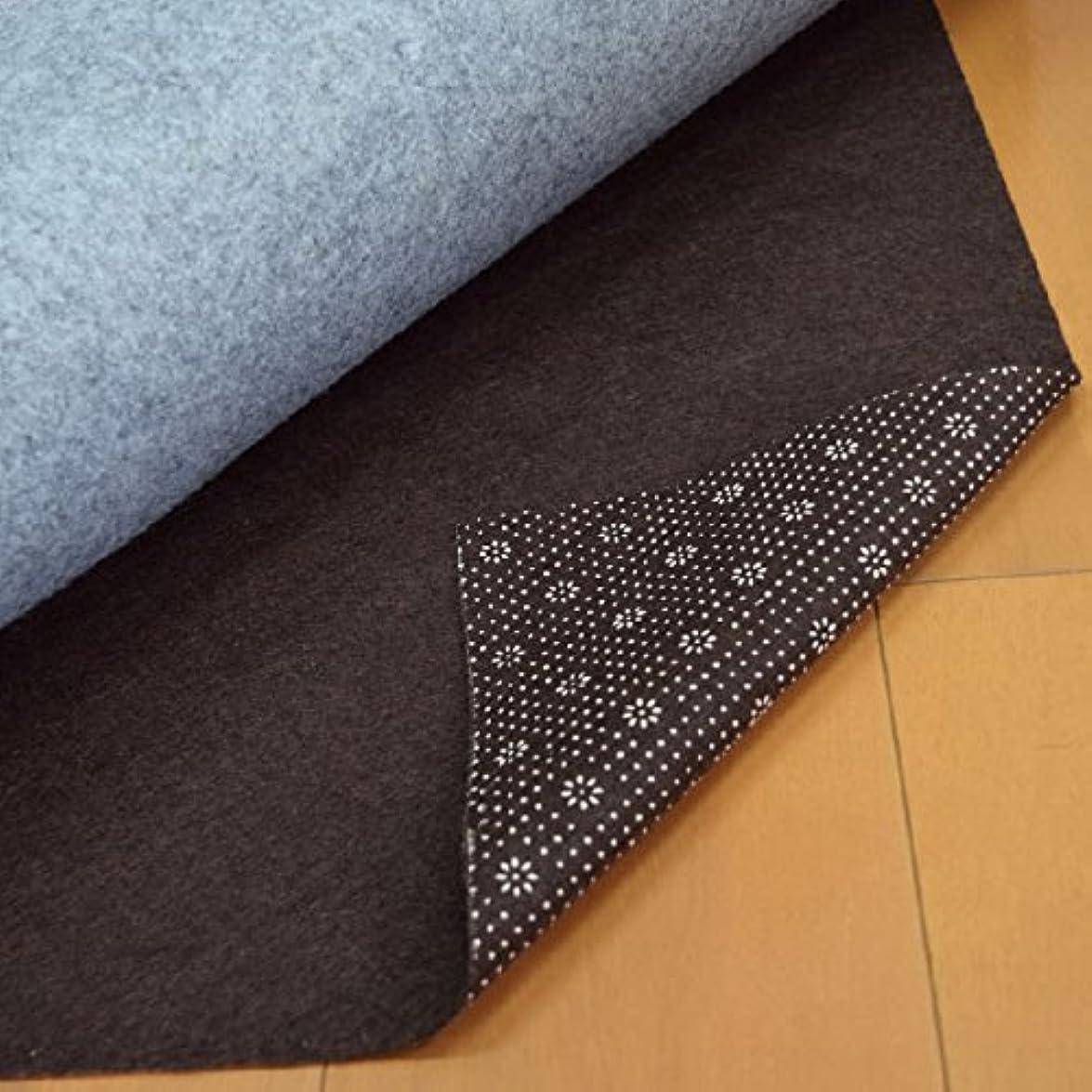 単独で艶仲良し花形ドットが滑り止め効果をさらにUPさせる!フリーカット&不織布の滑り止めシート ブラウン180cm×230cm 3畳サイズ ラグ?カーペット対応