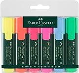 Faber-Castell 154806 - Estuche con 6 marcadores textliner, varios colores