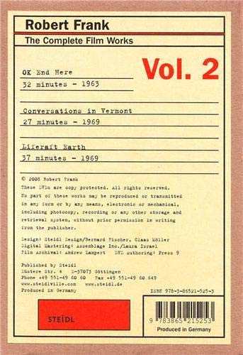 Robert Frank. The Complete Film Works Vol.2: OK End Here, Conversations in Vermont, Liferaft Earth (Three DVD's in a film-roll box)