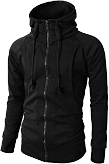 Men's Zipper Hoodie Long Sleeve Pullover Jacket Coat for Autumn Winter