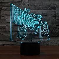 子供のためのナイトライト3DイリュージョンランプLEDベッドサイドテーブルランプ、Ticent&Co 16色変更ランプタッチスイッチデスク装飾USBランプ誕生日クリスマスギフト愛好家