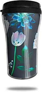 FTRGRAFE Bohemian HD Wallpapers Travel Coffee Mug 3D Printed Portable Vacuum Cup,Insulated Tea Cup Water Bottle Tumblers for Drinking with Lid 8.54 Oz (250 Ml)