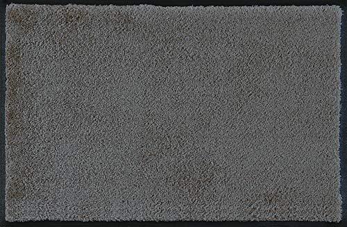 wash+dry Fußmatte Smokey Mount, 50x75 cm, innen und außen, waschbar, grau