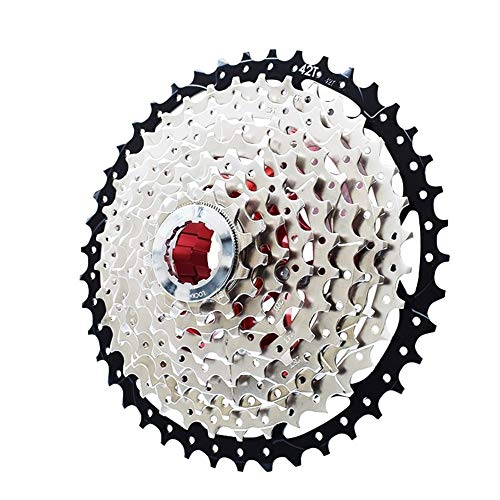 Roue 8 9 10 11 12 Vitesse Cassette VTT Vélo Cassette en Alliage d'aluminium Support Sprocket vélo Freewheel 40T 42T 46T 50T 52T dérailleur (Color : 12 Speed 11 52T)