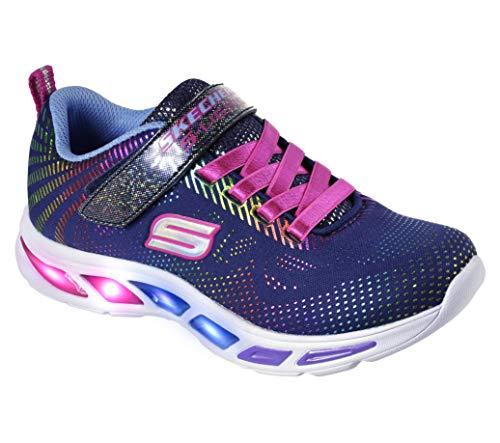 Skechers Dziewczęce Buty Sportowe Litebeams-Gleam NDream, Niebieski - 27 EU