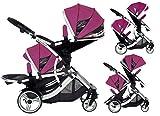 Duellette 21BS doppio passeggino passeggino (lampone) marca nuova gamma di colori.