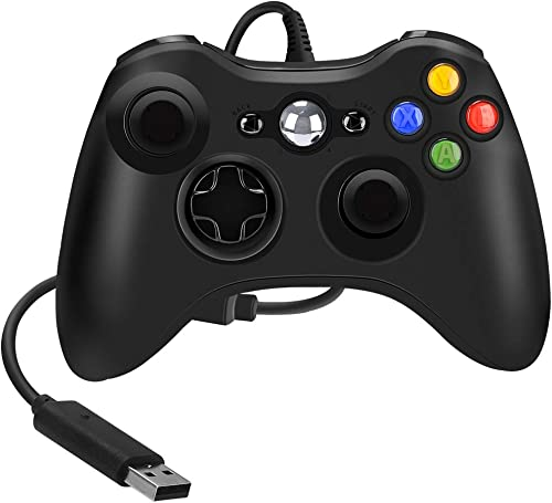 Wired Controller Compatible with Xbox 360, 7.2 ft Game Controller Gamepad USB Wired Gaming Ergonomic Design Joypad Ga...