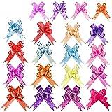FANDE Lazos Regalo, 200 Piezas Mariposa Coloreada Envoltorio de Regalo Mini Lazo de Envolver Regalo para Envolver Regalos, Lazos, Cinta de Regalo, Boda, Regalo