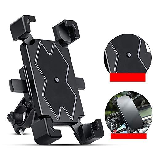 KKCD Titular De Teléfono De Bicicleta, 360 ° De Rotación Ajustable Soporte para Motocicleta De Teléfono para iPhone X MAX XR X 8 7 6 Plus-4.5-6.5 Pulgadas Celulares Android