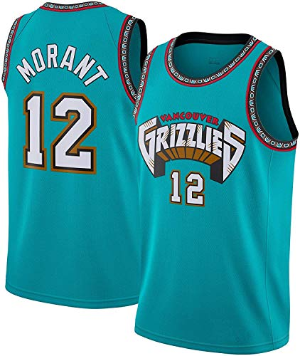 WSUN Basketball Men's NBA Jersey Memphis Grizzlies 12# Ja Morant Jersey NBA Cool Breathable Fabric Retro...