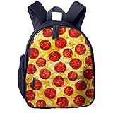 Bolsa La Escuela Mochila con Pizza de Queso y Pepperoni para Impermeable Mochilas para Niños Niñas