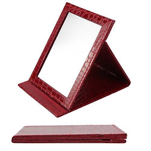 Desktop Folding Mirror, Portable Folding Vanity Mirror, Tabletop Mirror with Stand for Cosmetics Personal Beauty, Makeup Mirror