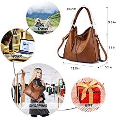 Realer Hobo Bags for Women Leather Purses and Handbags Large Hobo Purse with Tassel