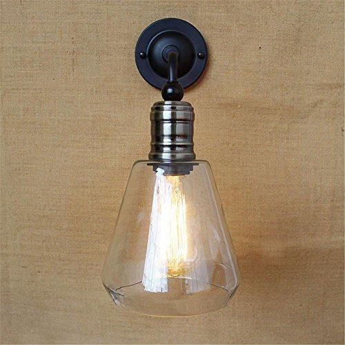 NIHE lampe chambre européenne lampe murale rétro personnalité créative minimaliste lit antique en fer forgé industrie