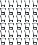 Tebery 2-Ounce Round Clear Shot Glasses Sets with Heavy Base, Set of 30
