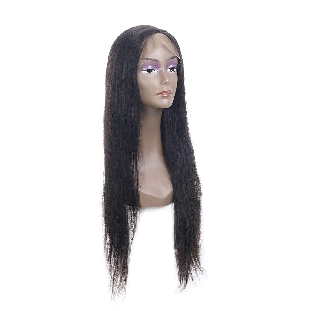絶対に電気的経済的SRY-Wigファッション ファッションレディースロングストレートウィッグ女性用デザインの凝った服アクセサリーコスプレパーティーウィッグブラック (Color : ブラック, Size : 18inch)