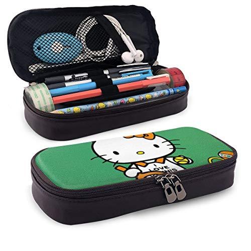Federmäppchen Hello Kitty Plying Tennis große Kapazität Federmäppchen Make-up Stifttasche Schreibwaren mit doppeltem Reißverschluss Stifthalter für Schule/Büro
