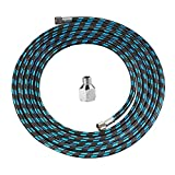 """SAGUD Airbrush Hose 10 Foot Nylon Braided Air Hose with 1/8"""" Size On..."""