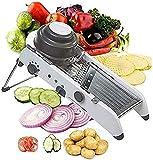 LUCKYY Mandoline Slicer Gemüse Einstellbare Dicke Und Pommes Frites Zwiebel Tomatenschneider Stahlklingen Veggie Chopper Küchenreibe