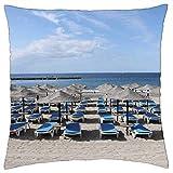 MAY-XCustom Fundas para Cojines,Hamacas La Caleta Tenerife Beach Canary Europe Funda De Cojín, Fundas De Almohada De Viaje Lindas Y Divertidas para Viajes Largos Escapadas Cortas,45x45cm