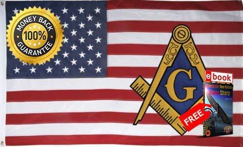 Zudrold 3x5feet USA Mason Flagge Freimaurer Freimaurer Amerikanische Flagge Hochwertige USA Premium Lebendige Farbe und UV-Fade eBOOK von Moon Messer