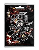 Lemmy Plectrum Pack Stone Death Forever Band Logo 公式 5 Pack Guitar Picks