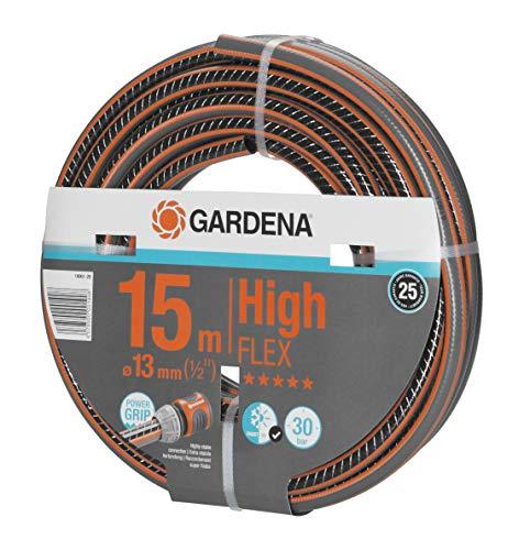 Gardena Comfort HighFLEX Schlauch 13mm (1/2 Zoll), 15 m: Gartenschlauch mit Power-Grip-Profil, 30 bar Berstdruck, formstabil, UV-beständig (18061-20)