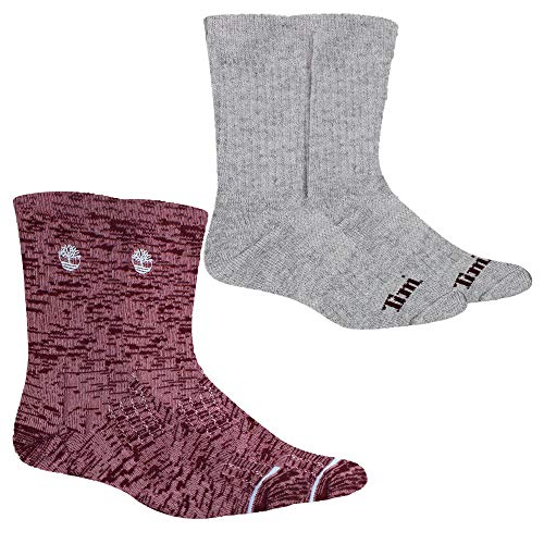 Timberland Women's 2-Pack Lightweight Pop Accent Wool Cushioned Boot Socks (Light Lilac)